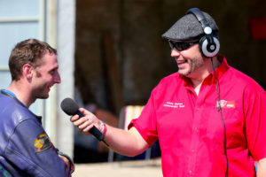 commentating at Castle Combe circuit